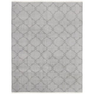 eCarpetGallery  Hand-knotted Arlequin Grey Wool Rug - 8'0 x 10'1