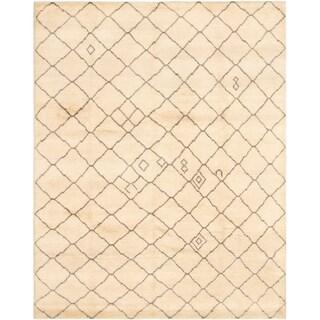 eCarpetGallery  Hand-knotted Arlequin Cream Wool Rug - 8'0 x 10'2