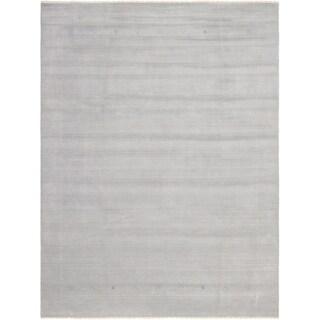 eCarpetGallery  Hand-knotted Kashkuli Gabbeh Light Grey Wool Rug - 9'2 x 12'0