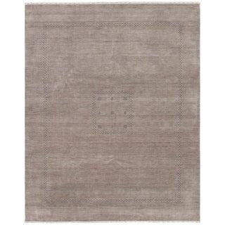 eCarpetGallery  Hand-knotted Kashkuli Gabbeh Dark Khaki Wool Rug - 8'2 x 10'1