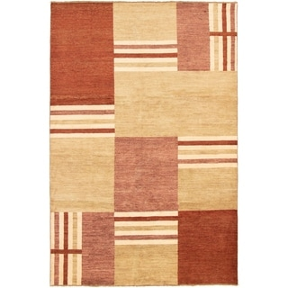 eCarpetGallery  Hand-knotted Finest Ziegler Chobi Dark Red, Khaki Wool Rug - 6'8 x 10'0