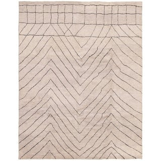 eCarpetGallery  Hand-knotted Arlequin Light Grey Wool Rug - 8'0 x 10'1