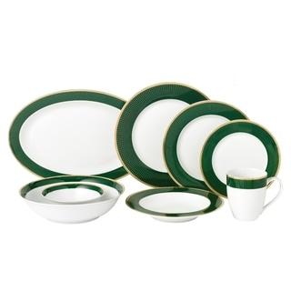 Lorren Home 50 Piece New Bone China Dinnerware Set Service for 8-Pine