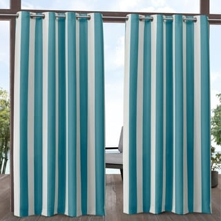 Link to ATI Home Canopy Stripe Outdoor Grommet Top Curtain Panel Pair Similar Items in Outdoor Decor