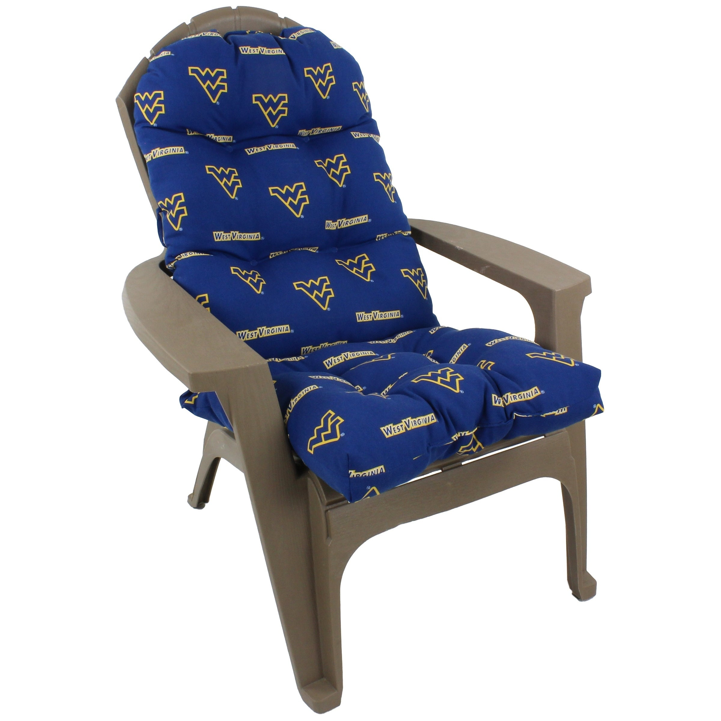 West Virginia Mountaineers Adirondack Chair Cushion Overstock 27587932
