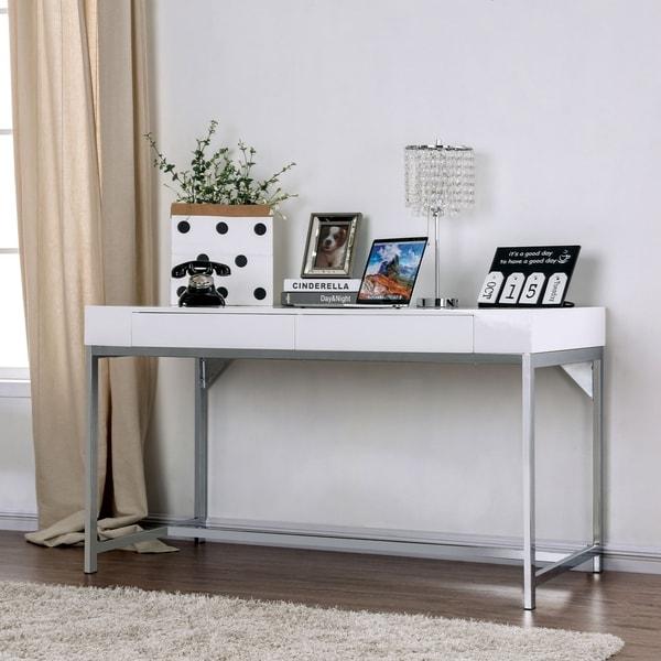 Strick & Bolton Petrie 54-inch White Desk. Opens flyout.