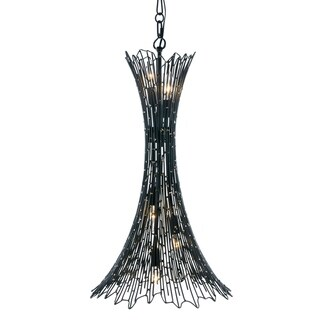 Link to Rikki 5-light Carbon and Aged Gold Foyer Pendant Similar Items in Pendant Lights
