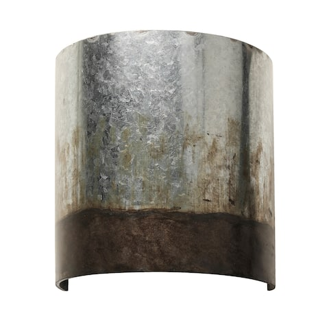 Cannery 1-light Ombre Galvanized Wall Sconce