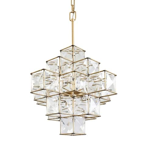 Cubic 6-light Calypso Gold Pendant