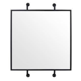 Tycho Black Pipe Mounted Wall Mirror