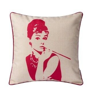 Pop Art Pink Throw Pillow (Case Only)