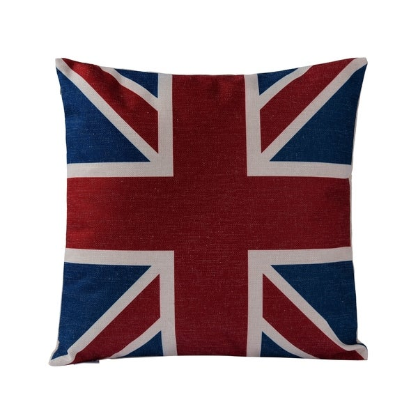 Union Jack Square Throw Pillow (Case Only)