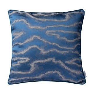 Blue and Silver Fluid Throw Pillow (Case Only)