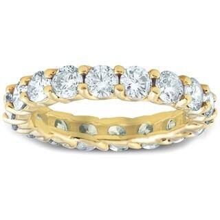 Pompeii3 14k Yellow Gold 3ct TDW Diamond Eternity Ring