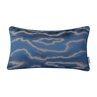 Blue and Silver Liquid Lumbar Pillow (Case Only)