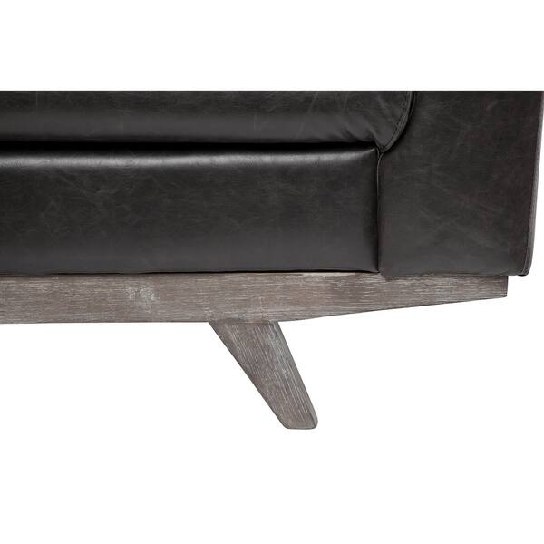 Shop Rebel 3 Seater Leather Sofa in Distressed Biker Black ...