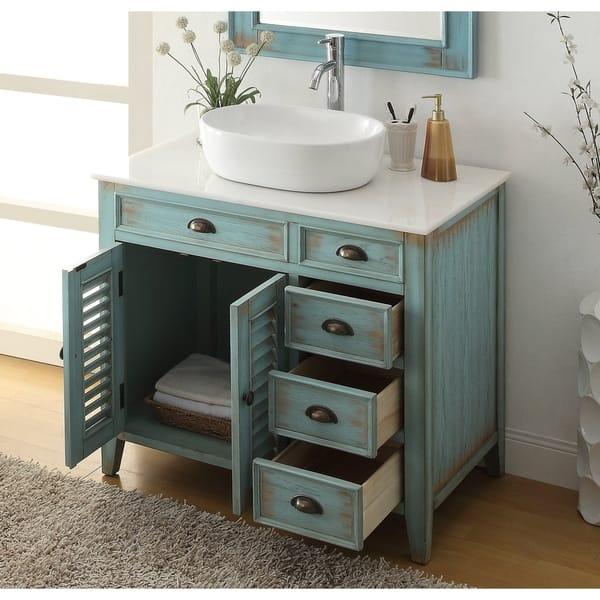 36 Benton Collection Abbeville Vessel Sink Farmhouse Bath Vanity On Sale Overstock 27588524