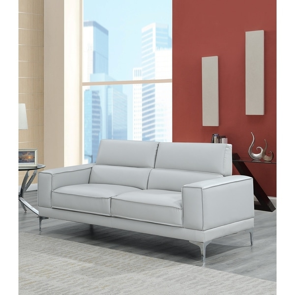 Shop Global Furniture Usa Lt Grey Sofa Free Shipping Today