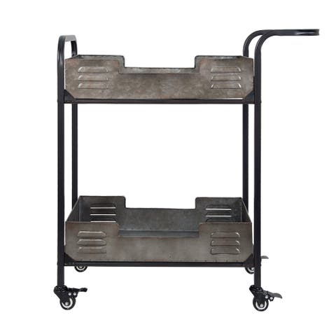 Elixir Rustic Metal Bar Cart