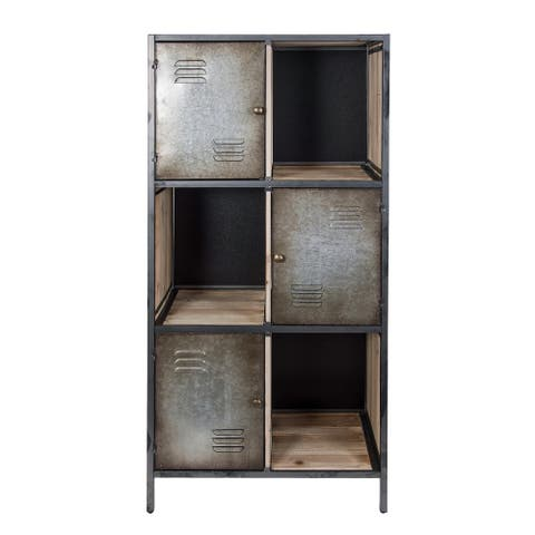 Jayce Rustic Cube Locker Bookcase