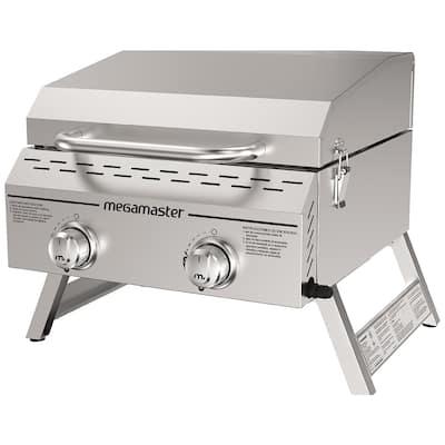 Megamaster 2 Burner Propane gas grill staninless steel Tabletop