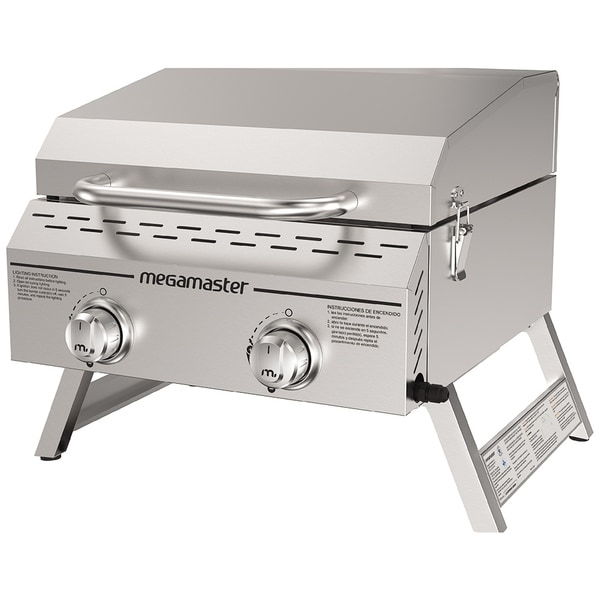 Megamaster 2 Burner Propane gas grill staninless steel Tabletop