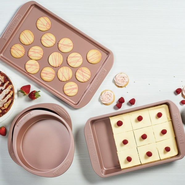 Farberware 4-Piece Nonstick Bakeware Set, Rose Gold - Rose Gold. Opens flyout.