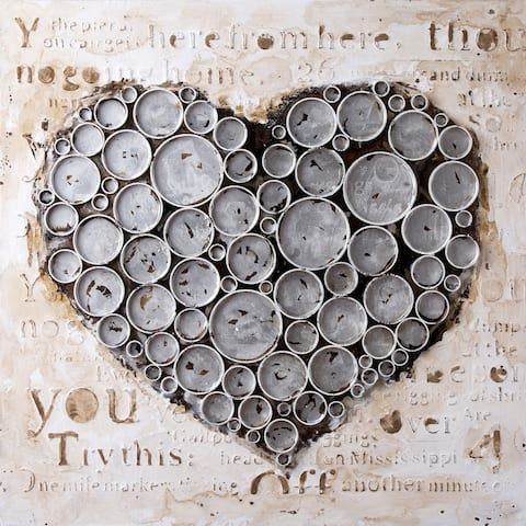 Work Of Heart Silver Wall Art
