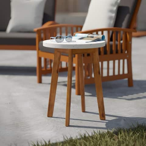 Larisse Natural/ Multi Terrazzo Outdoor Accent Table by Havenside Home