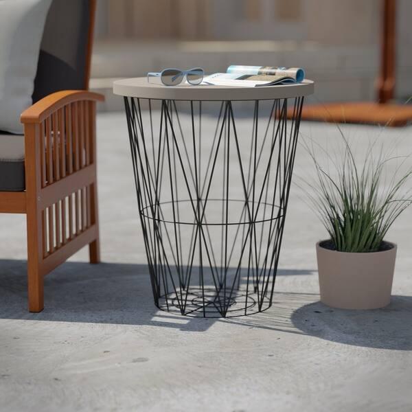 Prime Shop Havenside Home Rajita Industrial Black Cement Gray Uwap Interior Chair Design Uwaporg