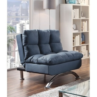 Furniture of America Parl Contemporary Blue Fabric Padded Armchair