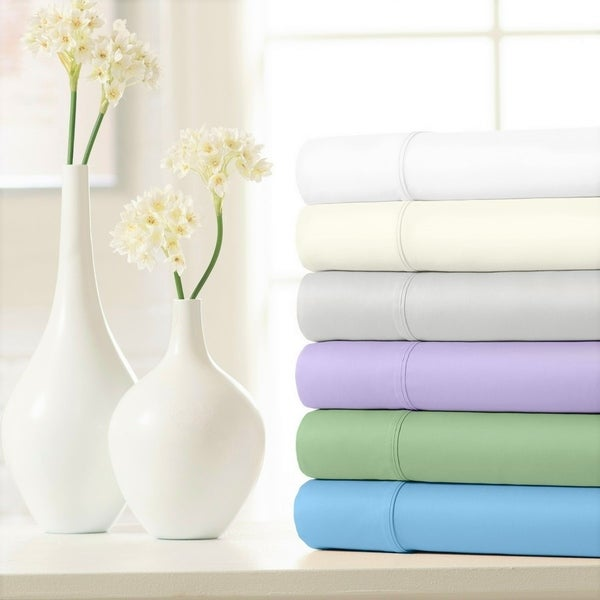 100% Cotton Sateen Smooth & Silky 500 Thread Count 4-Piece Sheet Set. Opens flyout.