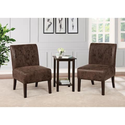 Copper Grove Sebaiera 3-piece Accent Table and Chairs Set
