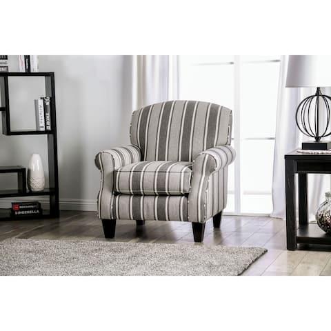 Furniture of America Kice Contemporary Grey Chenille Fabric Armchair