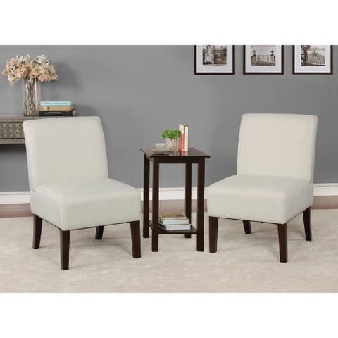 Copper Grove Sebaiera 3-piece Accent Table and Vinyl Chairs Set
