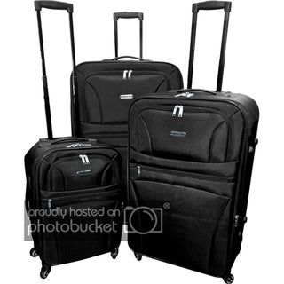 Link to Karriage-Mate Extra Large Black 3-piece Expandable Spinner Luggage Set Similar Items in Luggage Sets