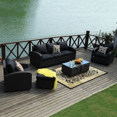 Black Wicker Patio Furniture Find