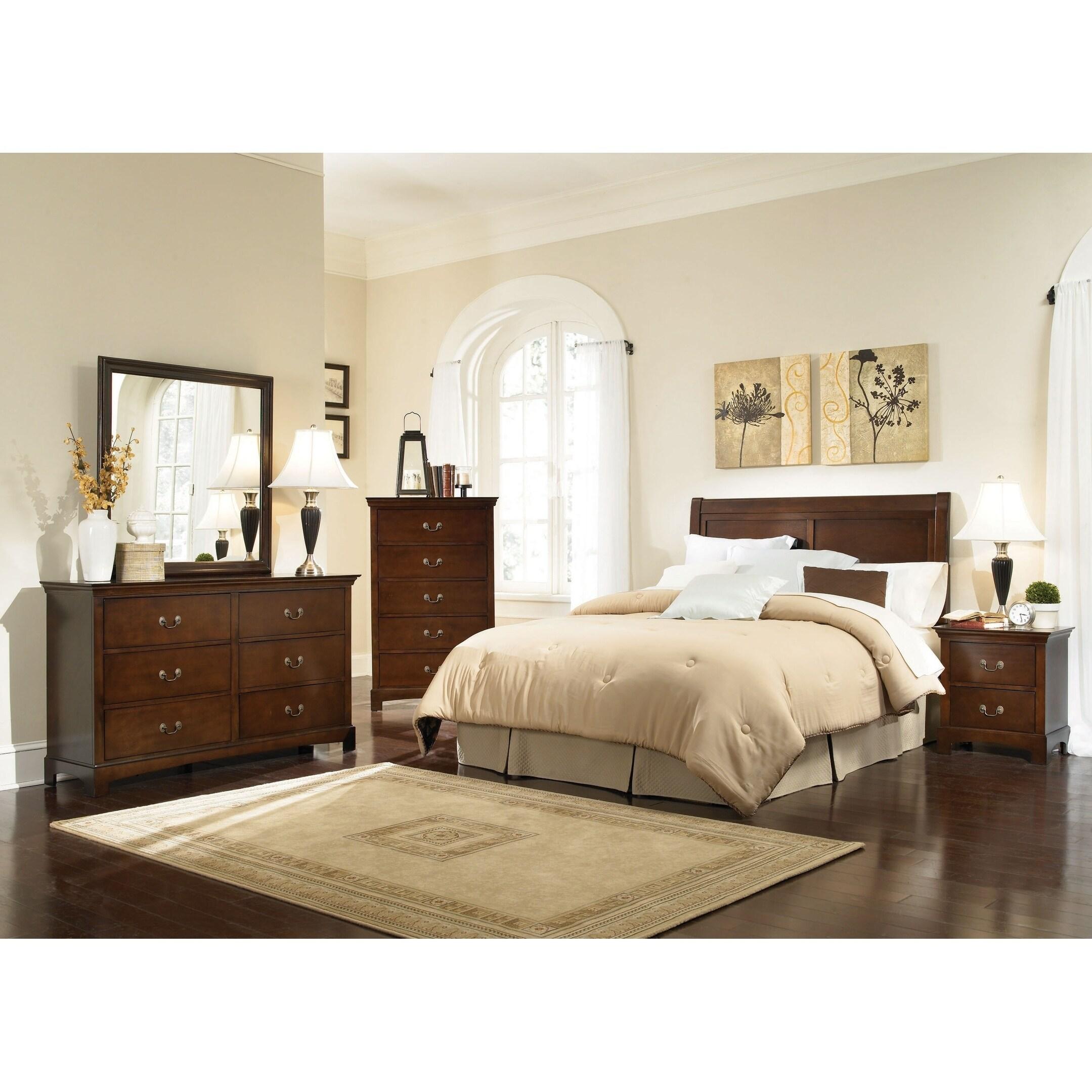 Shop Lenox Warm Brown 4 Piece Bedroom Set On Sale Overstock 27591137