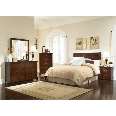 Lenox Warm Brown 5-piece Bedroom Set