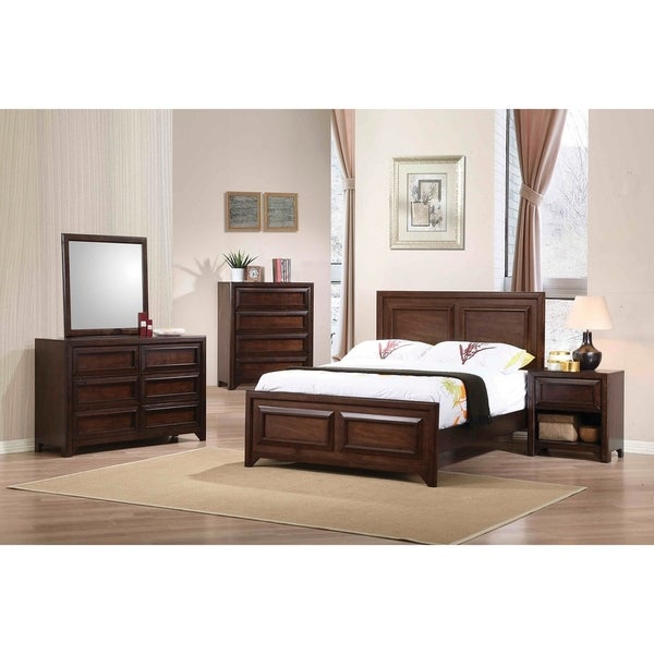 Joanna Transitional Maple Oak 4-piece Bedroom Set