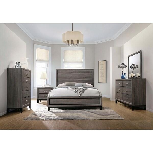 Shop Ariane Rustic Grey Oak 5-piece Queen Bedroom Set - On Sale ...