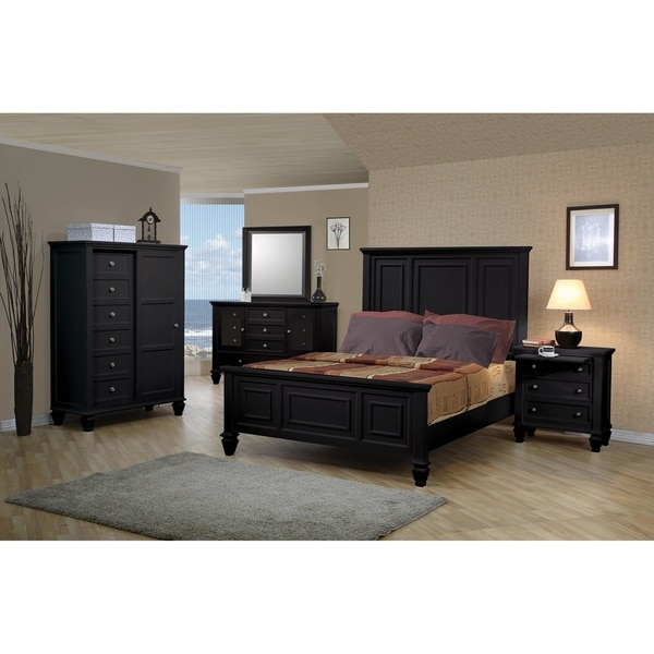 Cortina Black 5-piece Bedroom Set