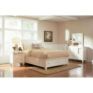 Rocco White 4-piece Storage Bedroom Set