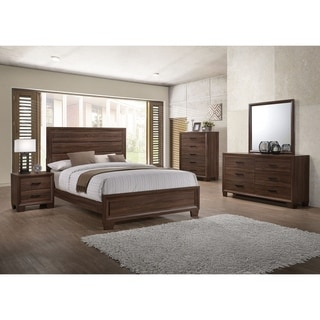 Addison Transitional Medium Warm Brown 5-piece Bedroom Set