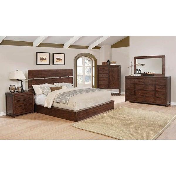Shop cascadia industrial dark cocoa 4 piece bedroom set - Industrial bedroom furniture sets ...