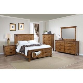 Dalton Rustic Honey 4-piece Storage Bedroom Set
