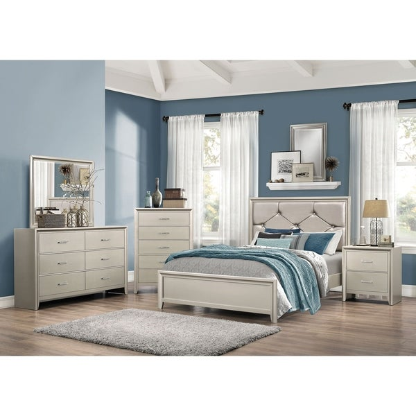 shop courtney traditional silver 5-piece bedroom set