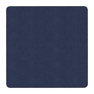 Flagship Carpet Ameristrong School Classroom Square Rug, Navy - 6' x 6' - 6' x 6' Square