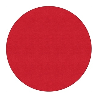 Flagship Carpet 6' Round Americolors School Classroom Rug - Rowdy Red - 6' Round