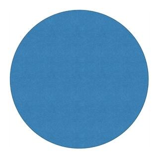Flagship Carpet 6' Round Ameristrong School Classroom Rug - Blue Bird - 6' Round